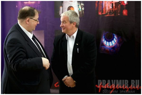 Ректор МАРХИ Дмитрий Швидковский и архитектор Ежи Устинович