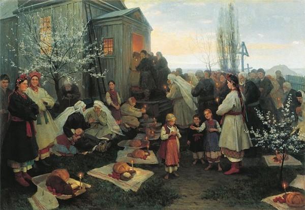 Пасха. Николай Пимоненко. Начало 20 в