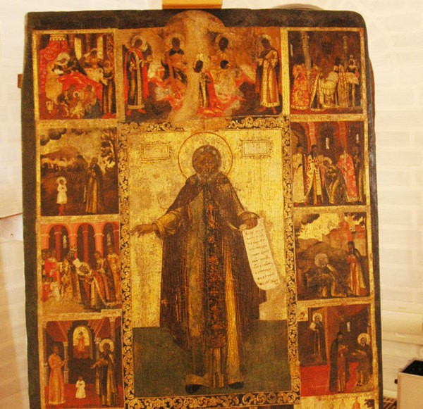 В Вологде представили древнюю икону преподобного Сергия Радонежского