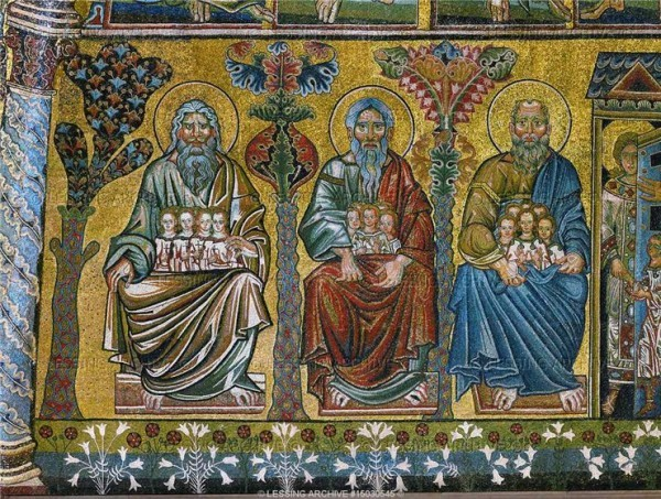 Лоно Авраама, Исаака и Иакова из мозаик Страшного Суда. Мозаики Флорентийского баптистерия