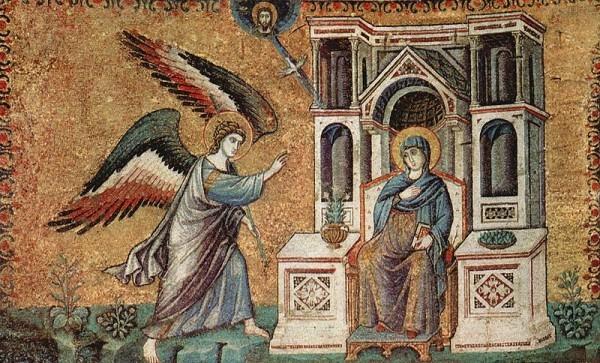 Мозаика в церкви Санта-Мария-ин-Трастевере в Риме, XIII век