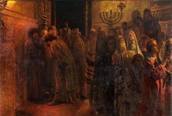 Ге. «Иисус в Синедрионе»