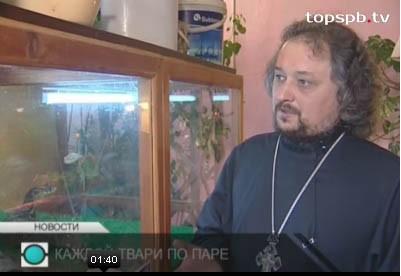 Священник открыл террариум при храме под Петербургом