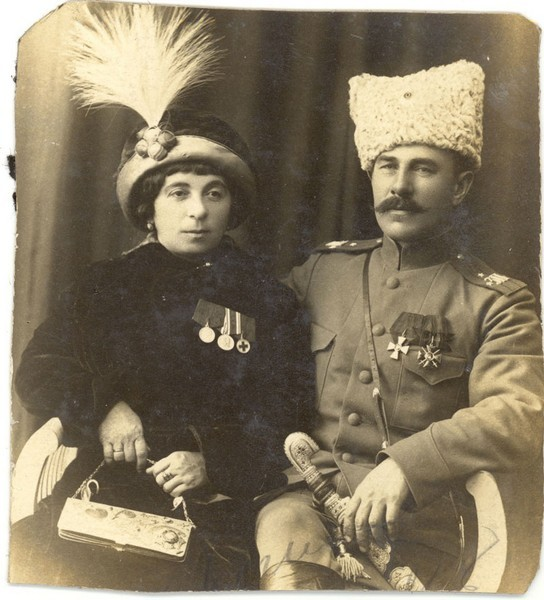 Кавалер ордена св. Георгия 4 ст. с супругой.