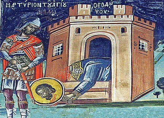 Церковь чтит память святых мучеников Феодота и семи дев