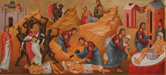 Христос в образе милосердного самарянина