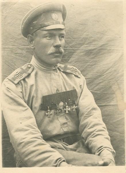 Подпрапорщик 219-го Котельнического пехотного полка И. М.Загайнов