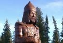 В Свердловской области установлена скульптура Александра Невского из липы – ровесницы князя