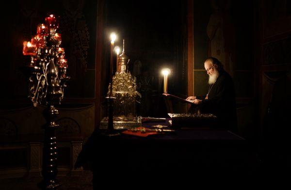 Патриарх Кирилл служит в Троице-Сергиевой Лавре в первую неделю Великого Поста.