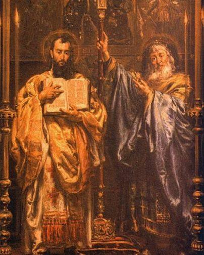 Кирилл и Мефодий, картина
