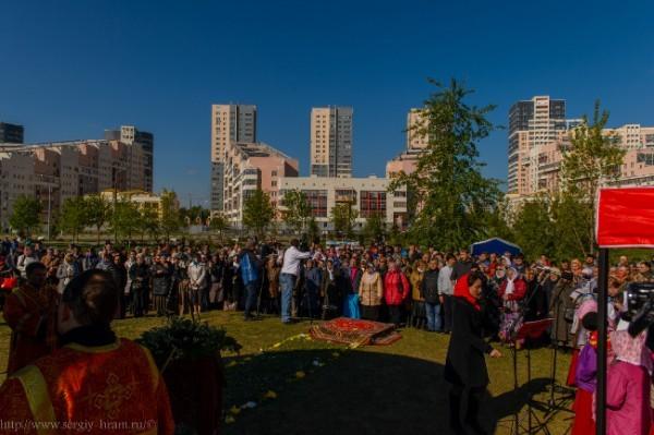 Более тысячи жителей Ходынки пришли на празднование 700-летия преподобного Сергия Радонежского
