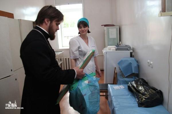 Одесская епархия передала в ожоговый центр дорогостоящее медицинское оборудование
