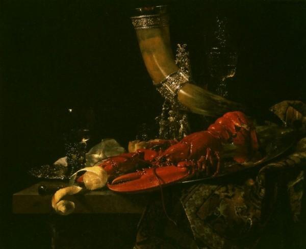 Вилем Кальф. Натюрморт с рогом