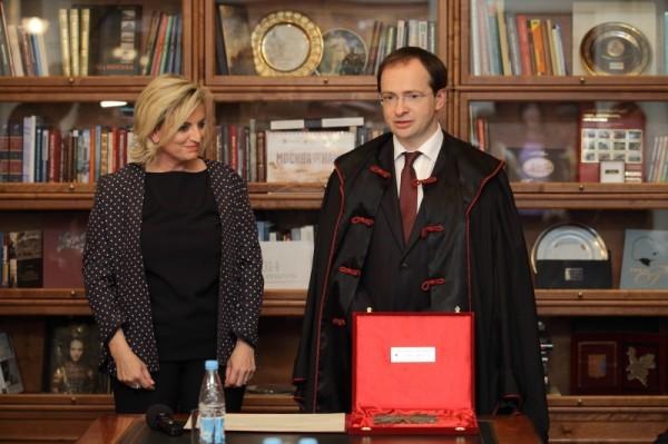 Владимиру Мединскому вручили диплом почетного профессора Университета Ca' Foscari