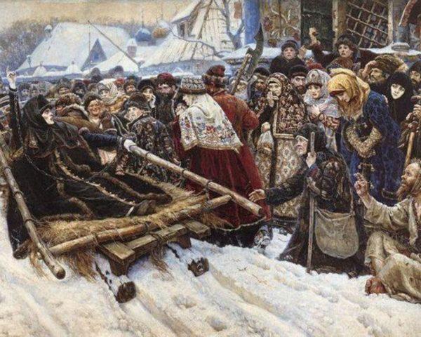 духовное чадо протопопа Аввакума - боярыня Морозова. Суриков