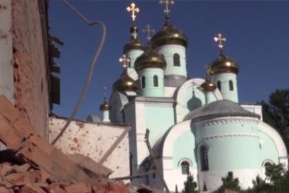 Храм святого Серафима Саровского в Славянске попал под обстрел