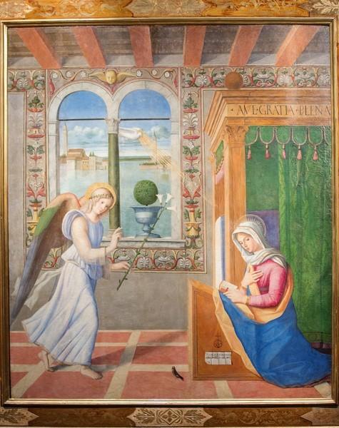 Франческо ди Симоне да Сантакроче. Благовещение. 1504. Дерево, масло