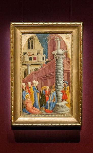Джованни д'Алеманья. Мученичество святой Аполлонии (Вырывание зубов), около 1440-1445, дерево, темпера