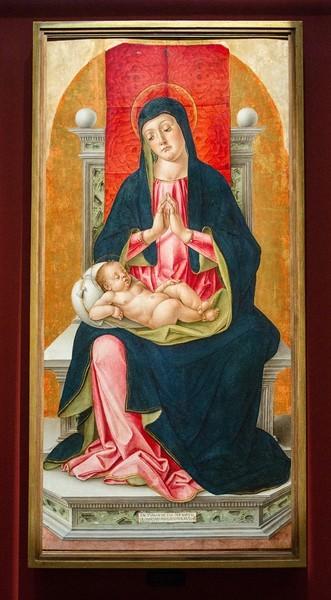 Бартоломео Виварини. Мадонна на троне, 1448, дерево, темпера