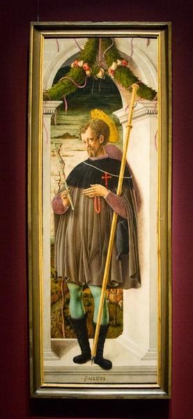 Джорджо Чулинович, прозванный Скьявоне. Святой Алессио, 1458-1460, дерево, темпера