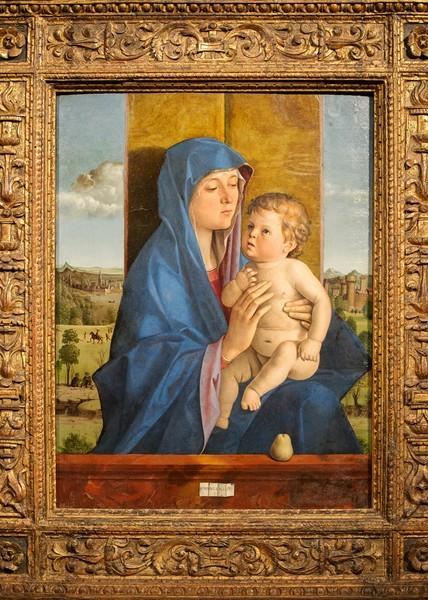 Джованни Беллини. Мадонна с Младенцем (Мадонна ди Альцано), около 1485-1487, дерево, масло