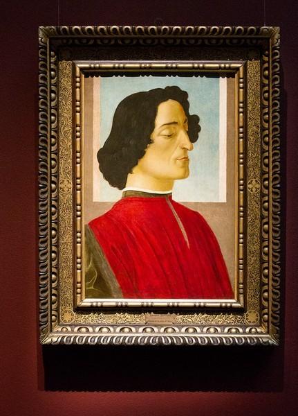 Алессандро Филипепи, прозванный Сандро Боттичелли, и мастерская. Портрет Джулиано де Медичи, 1478-1480, дерево, темпера