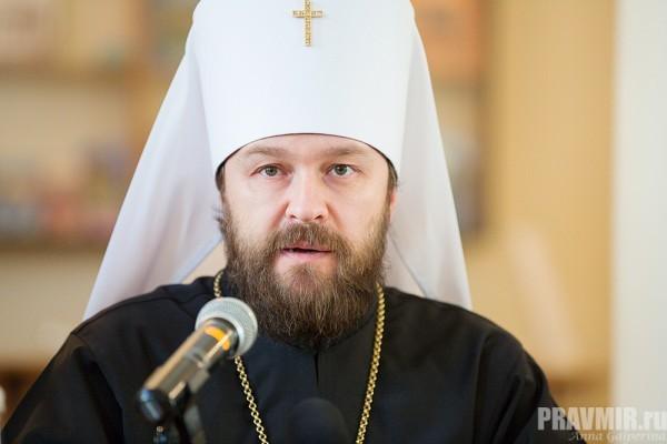 Митрополит Иларион: Церковь никогда не встанет на сторону тех, кто ведет братоубийство