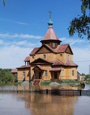 На Алтае восстанавливают храмы пострадавшие от наводнения