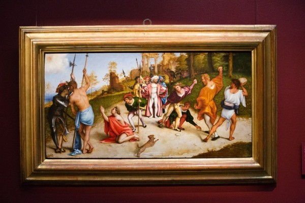 Лоренцо Лотто. мученичество святого Стефана, 1513-1517, дерево, масло