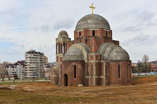 Храм Христа Спасителя в Косово вновь подвергся осквернению