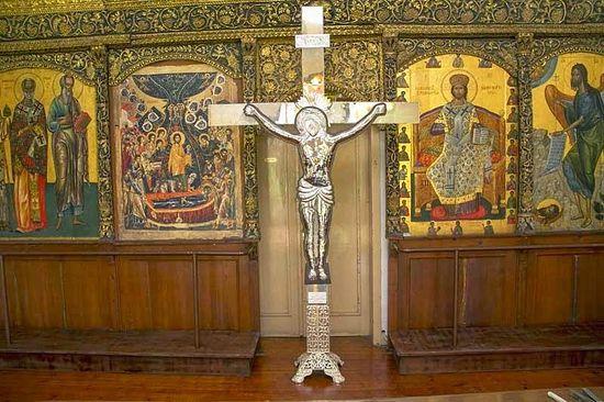 На соборный храм Афона установят новый крест
