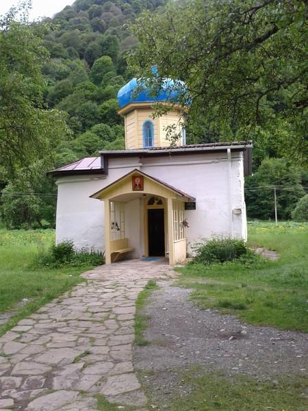 Нижне-Архызское городище. Ильинский храм. Купол надстроен