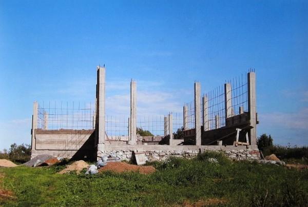 Строительство храма. Фото из архива Надежды Яковлевны