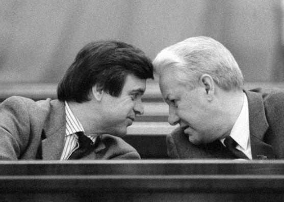 Хасбулатов и Ельцин