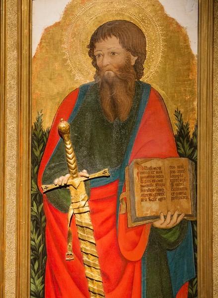 Маэстро деи Картеллини. Святой Павел, 1445-1455, дерево, темпера