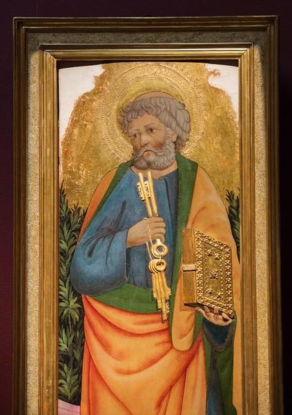 Маэстро деи Картеллини. Святой Петр, 1445-1455, дерево, темпера