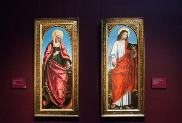 Амброджо да Фоссано, прозванный Бергоньоне. Святая Марта. Святой евангелист Иоанн, около 1511-1512, дерево, масло