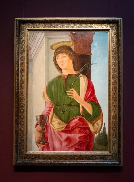 Лоренцо Коста. Святой Евангелист Иоанн, около 1480-1481, холст, темпера, масло