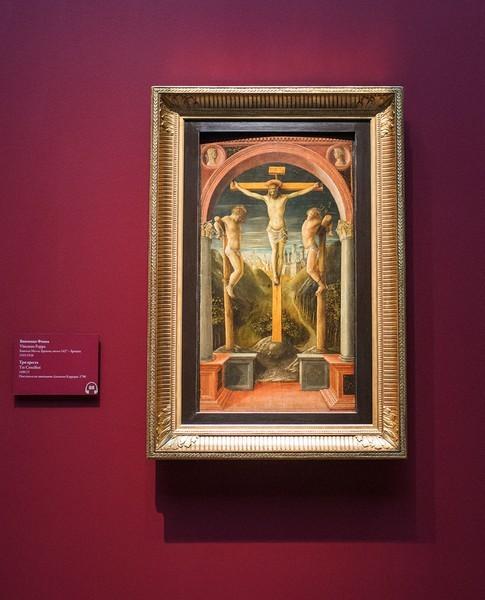 Винченцо Фоппа. Три креста, 1450, дерево, темпера