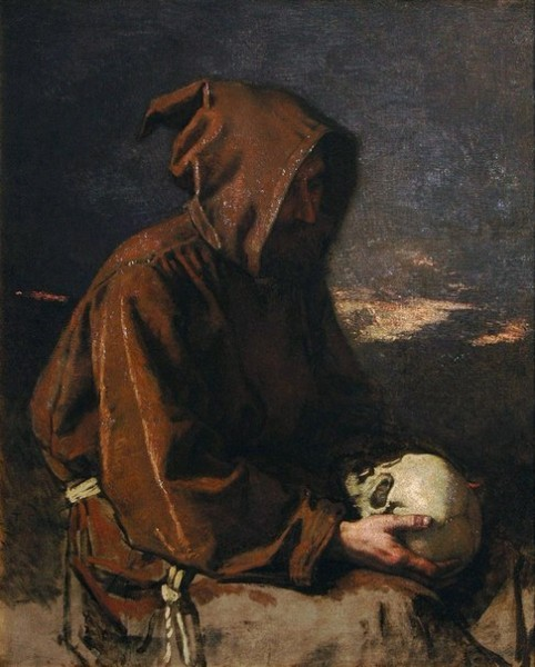 Тома Кутюр - «Монах, созерцающий череп»