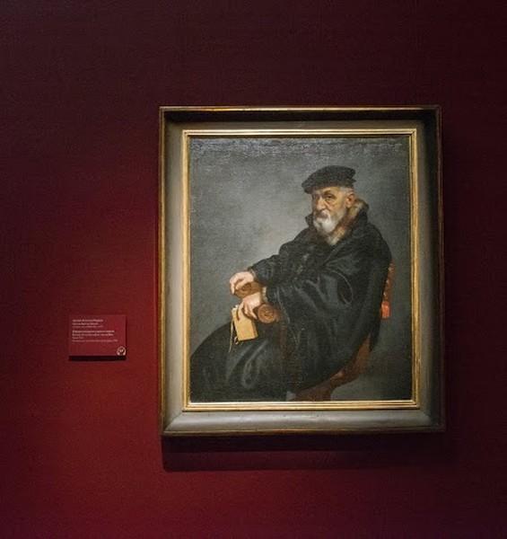 Джованни Баттиста Морони. Потрет сидящего старика с книгой, около 1576, холст, масло