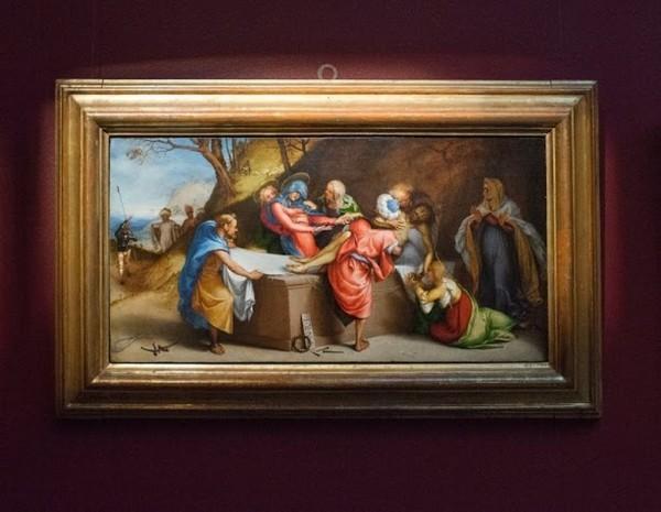 Лоренцо Лотто. Положение во гроб, около 1513-1517, дерево, масло
