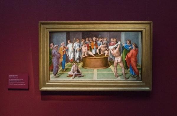 Джироламо Дженга. Святой Августин совершает таинство крещения над оглашенными, 1516-1518, дерево, масло