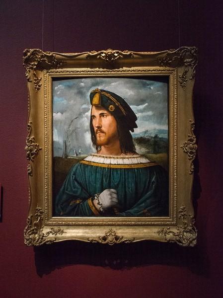 Альтобелло Мелоне. Портрет дворянина. Около 1513, дерево, масло