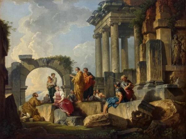 Джованни Паоло Паннини . «Апостол Павел проповедующий на руинах»