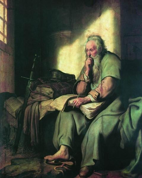 Павел в темнице. Рембрандт