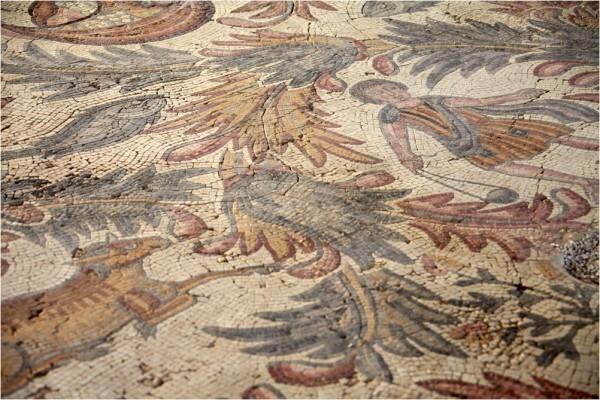 Фрагмент храмовой мозаики