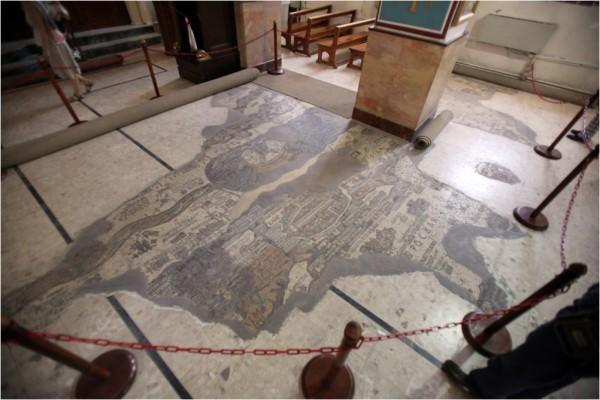 Мадаба. Знаменитая мозаичная карта в храме св. вмч. Георгия