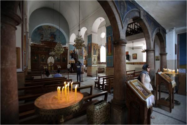 Интерьер Георгиевского храма в Мадабе
