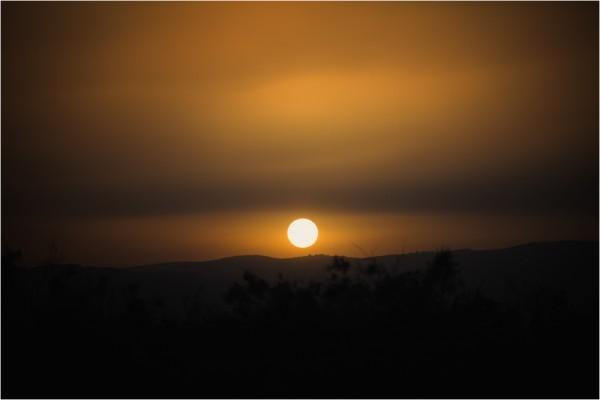 Закат в Иорданской долине